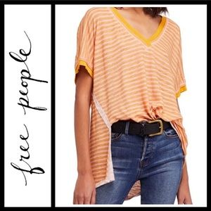 Free People Take Me Striped Tee NWT